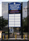 Digital Display full color sign installed between poles in a pylon